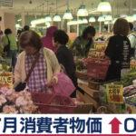 【消費者物価】0.6%上昇  総務省「緩やかな上昇変わりない」