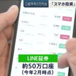 日経平均3万円台 スマホ投資が急増